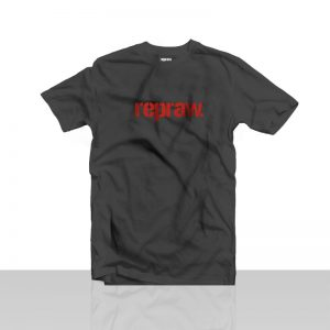 black red print repraw tshirt
